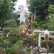 鳩森八幡神社 千駄ヶ谷の富士塚