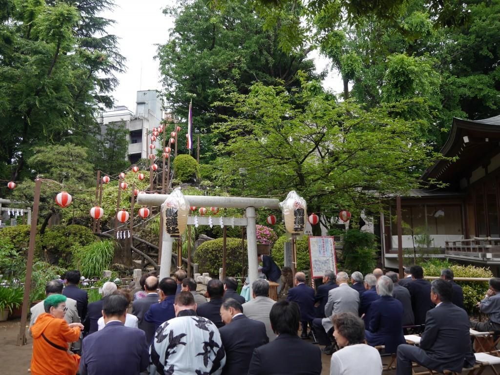 氏子地域の町内の代表の方々がご参列でした。