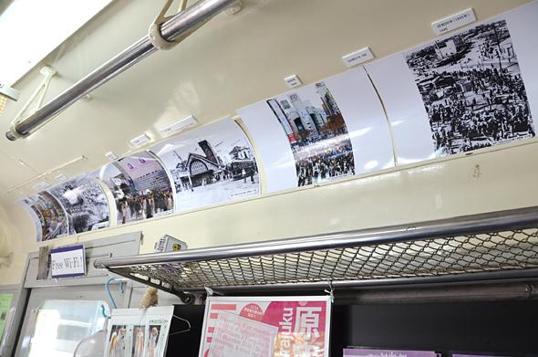 昔の渋谷の写真も展示されているにゃん!