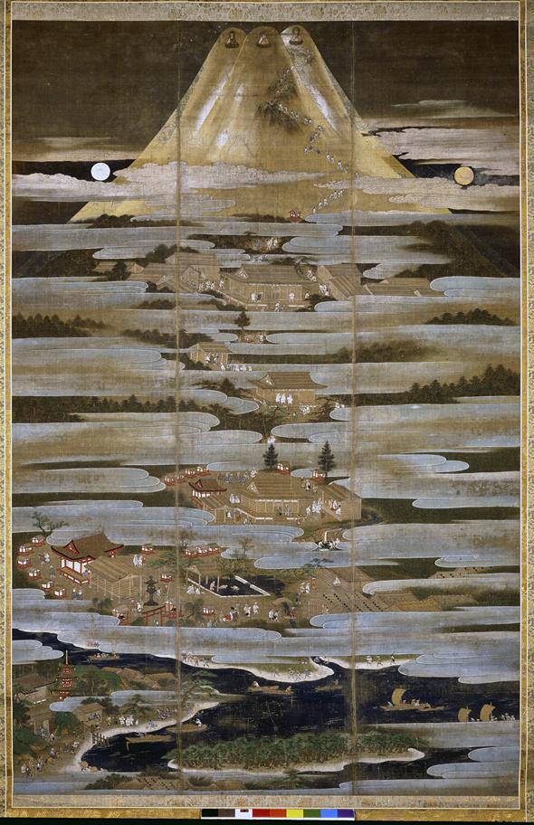 絹本著色富士曼荼羅