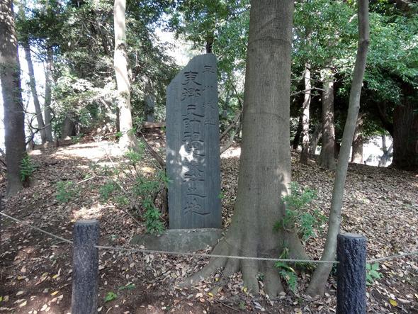 『東郷氏発祥の地』の碑