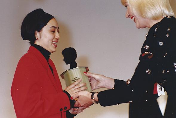 1990年、JHAロンドン審査員賞受賞の時の様子